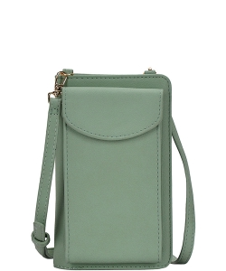 Fashion Chic Multi Pockets Long Wallet Crossbody BGA-48742 SAGE