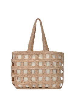 Phoenix Tote Woven Bag BGA-IN12 NATURAL