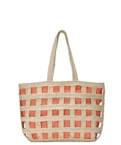 Phoenix Tote Woven Bag BGA-IN12 PEACH