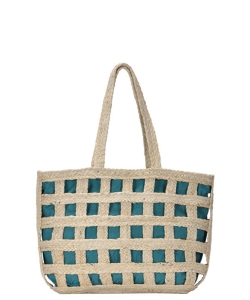 Phoenix Tote Woven Bag BGA-IN12 TEAL