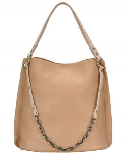 Chain 2-in-1 Shoulder Hobo Bag BGA-4012 CAMEL