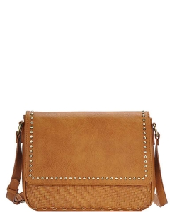 Stylish Fashion Studded Crossbody Bag BGO-84340 MUSTARD