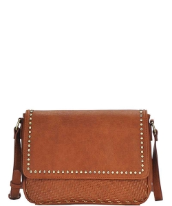 Stylish Fashion Studded Crossbody Bag BGO-84340 TAN