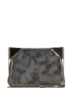 Chic Stylish Corner Accent Clutch with Long Chain BGS-0943 GOLD