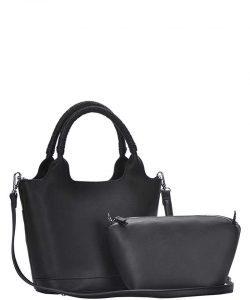 3 In1 Cute Stylish Tote Bag with Long Strap BGS-2959 BLACK