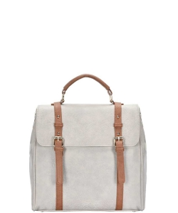 Buckle Strap Design Backpack BGS-44028 GRAY