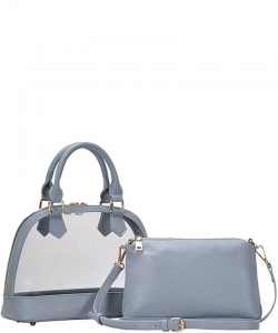 2 In1 Cute Transparent Domed Satchel BGS-5799 BLUE
