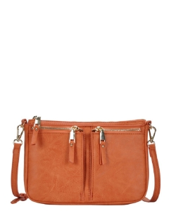 Fashion Front Double Zip Pocket Cross Body BGT-48420 SALMON