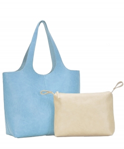 2in1 Fashion Tote Bag BGW-81617 BLUE