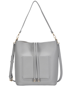 Madison West tote bag comes with a cross-body bag BGW0962 GREY
