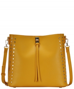 Madison West tote bag comes with a cross-body bag BGW81277 MUSTARD