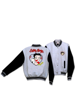 Betty Boop and Pudgy Her Pet Dot Baseball Jacket BJ-9028