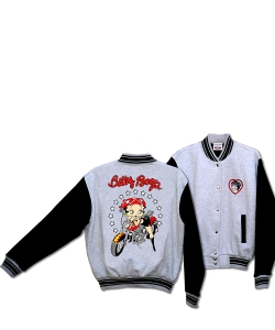 Betty Boop Biker Motorcycle Scoot Baseball Jacket BJ-9029