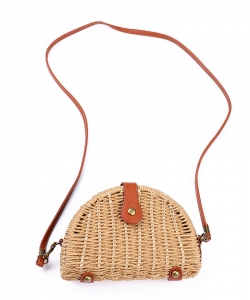 Fashion Straw Crossbody Bag BJ201 NATURAL