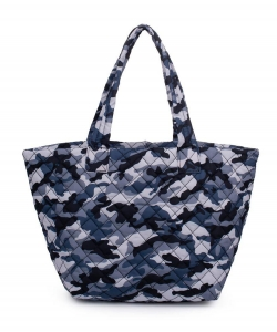 Urban Expressions Breakaway Tote Bag BLUE CAMO