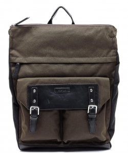Backpack Polyester Twill fabric BLANC105 BROWN