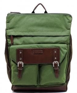 Backpack Polyester Twill fabric BLANC105 OLIVE