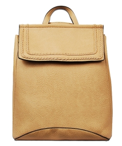 Soft Faux Leather Fashion Backpack BP1778 CAMEL