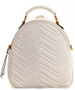 Cute Chevron Stitched Backpack BP6436 BIEGE