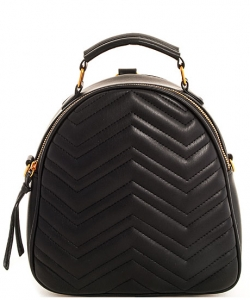 Cute Chevron Stitched Backpack BP6436 BLACK