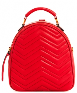 Cute Chevron Stitched Backpack BP6436 RED