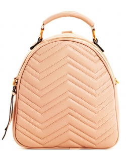 Cute Chevron Stitched Backpack BP6436 TAUPE