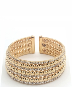 Rhinestone Cuff Bracelet Bangle for Women  BS300041 GOLD CL