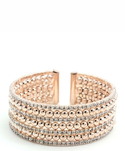 Rhinestone Cuff Bracelet Bangle for Women  BS300041 ROSEGOLD CL