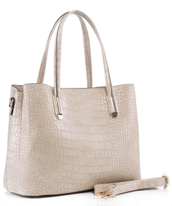 Crocodile Embossed Tote Bag  BS-3687  BEIGE