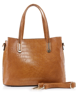 Crocodile Embossed Tote Bag  BS-3687  CAMEL