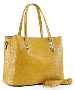Crocodile Embossed Tote Bag  BS-3687  YELLOW