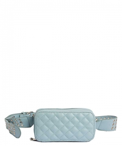 Modern Stitched Checker Design Fanny Pack Crossbody Bag BT-0148 BLUE