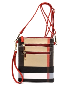 Designer Inspired Crossbody Bag Wristlet BT2582 RED