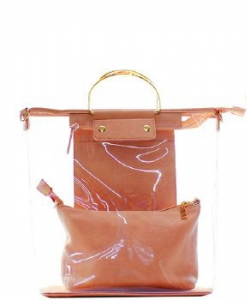 Fashion 2 in 1 Clear Handbag C1087 RGOLD