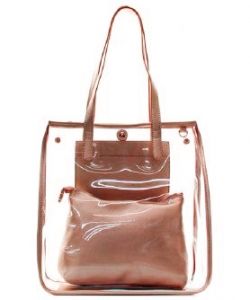 Fashion 2 in 1 Clear Handbag C1089 RGD