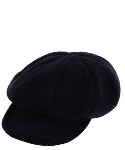 Fur Newsboy Winter Hat CAP00484 BLACK