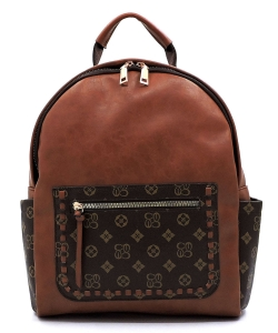 Monogrammed Whipstitch Pocket Backpack CD2739 TAN