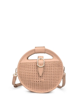 Urban Expressions Cece Woven Vegan Crossbody Bag NUDE