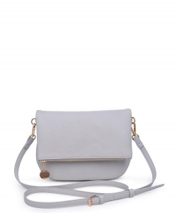 Urban Expressions Celeste Pebbled Vegan Crossbody Bag GRAY
