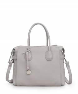 Urban Expressions Claudia Vegan Satchel Bag DOVE GRAY