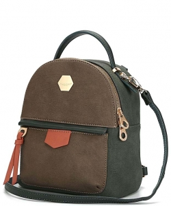 David Jones Faux Leather Mini Backpack CM3539 DGN