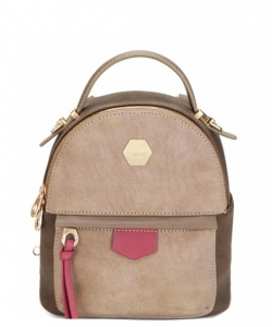 David Jones Faux Leather Mini Backpack CM3539 DKHAKI