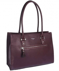 David Jones Tote handbag CM3930 BURGANDY