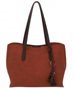 David Jones Tote handbag CM3940 CAMEL RED