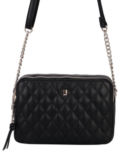 David Jones Women's Purse Crossbody CM5383 BLACK