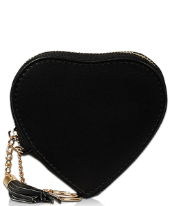 Heart Keychain Coin Purse CN1745 BLACK