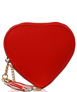 Heart Keychain Coin Purse CN1745 RED