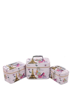 Printed 3-in-1 Cosmetic Case CO108