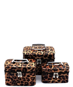 Leopard Printed 3-in-1 Cosmetic Case CO128