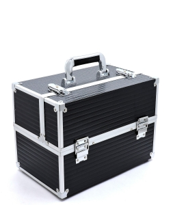 Makeup Train Case Professional Cosmetic Box CO410 BLACK